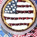 American flag white chocolate cheesecake | The Baking Fairy