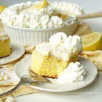 lemon white chocolate poke cake | The Baking Fairy