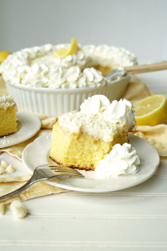 lemon white chocolate poke cake