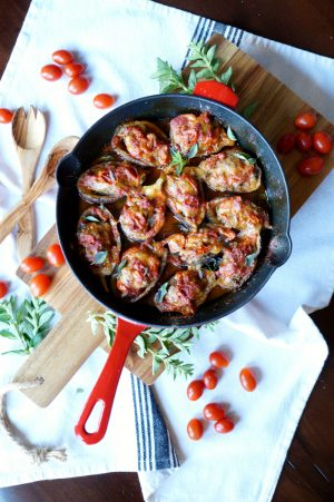 mini stuffed eggplant parmesan | The Baking Fairy