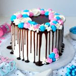 gender reveal piñata cake | The Baking Fairy