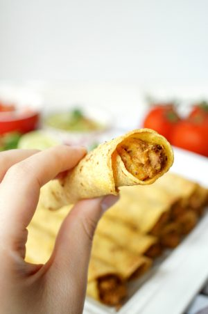 vegan jackfruit & potato taquitos | The Baking Fairy