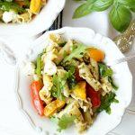 tomato & mozzarella pesto pasta salad | The Baking Fairy