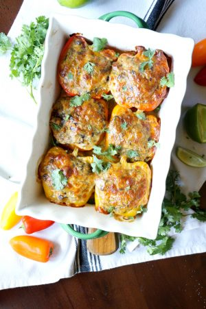 vegetarian Mexican stuffed peppers | The Baking Fairy