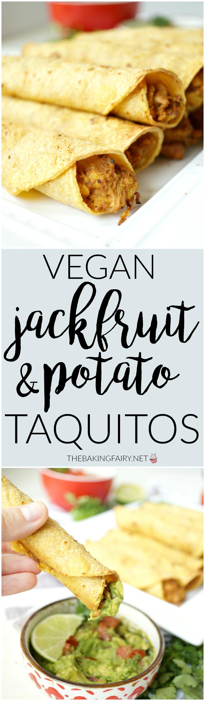 vegan jackfruit & potato taquitos | The Baking Fairy