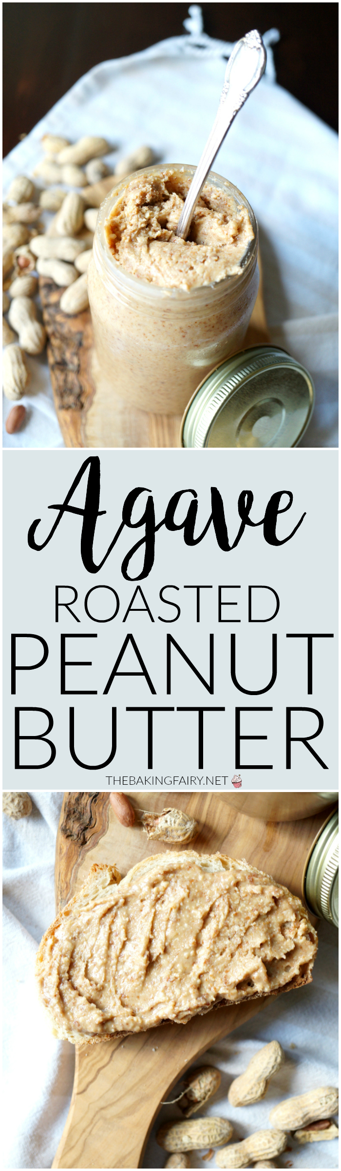 agave roasted peanut butter | The Baking Fairy