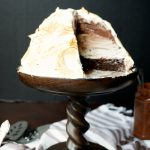 chocolate hazelnut layered Baked Alaska | The Baking Fairy