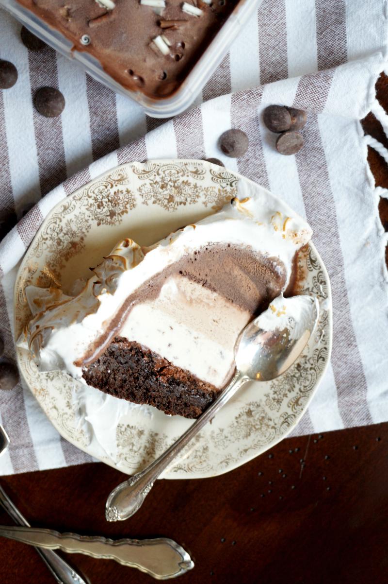chocolate hazelnut layered Baked Alaska   The Baking Fairy