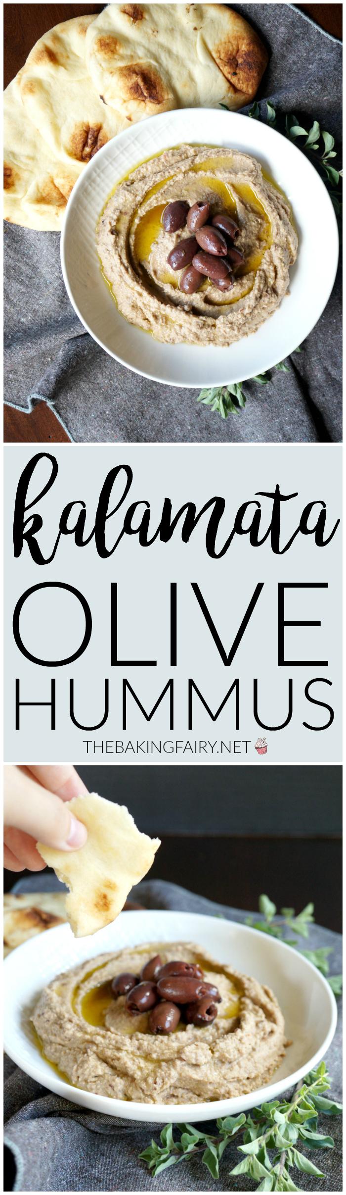 kalamata olive hummus | The Baking Fairy