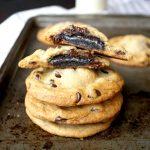vegan oreo-stuffed chocolate chip cookies | The Baking Fairy