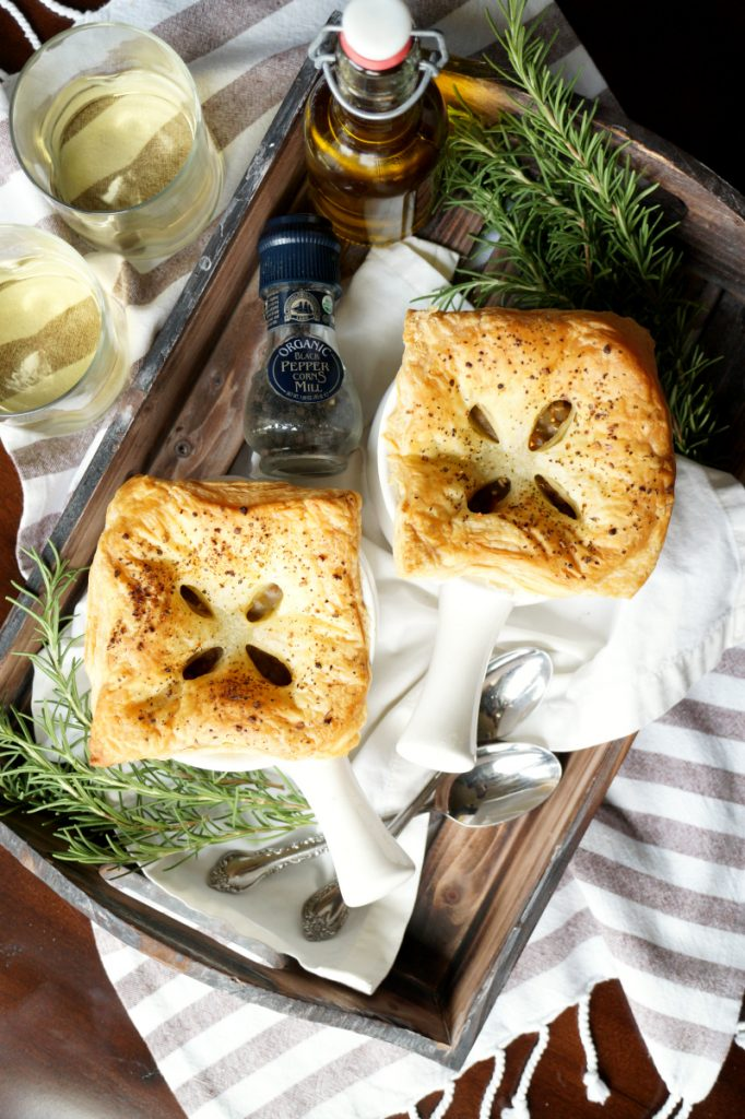 vegan lentil mushroom pot pies