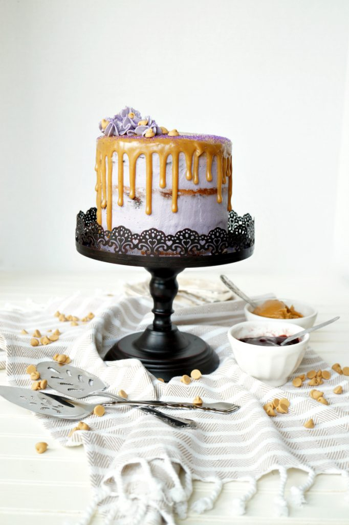 peanut butter & jelly layer cake