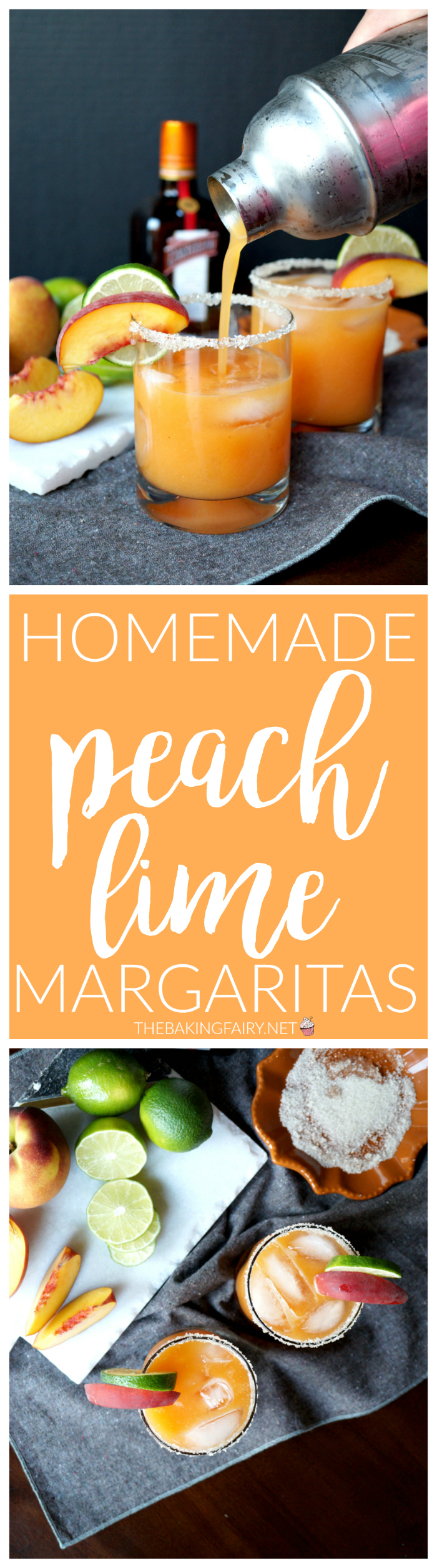 homemade peach lime margaritas | The Baking Fairy