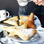 vegan dark chocolate pear turnovers | The Baking Fairy