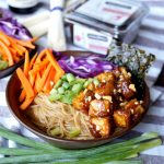 vegan ramen noodle soup with sticky peanut tofu | The Baking Fairy