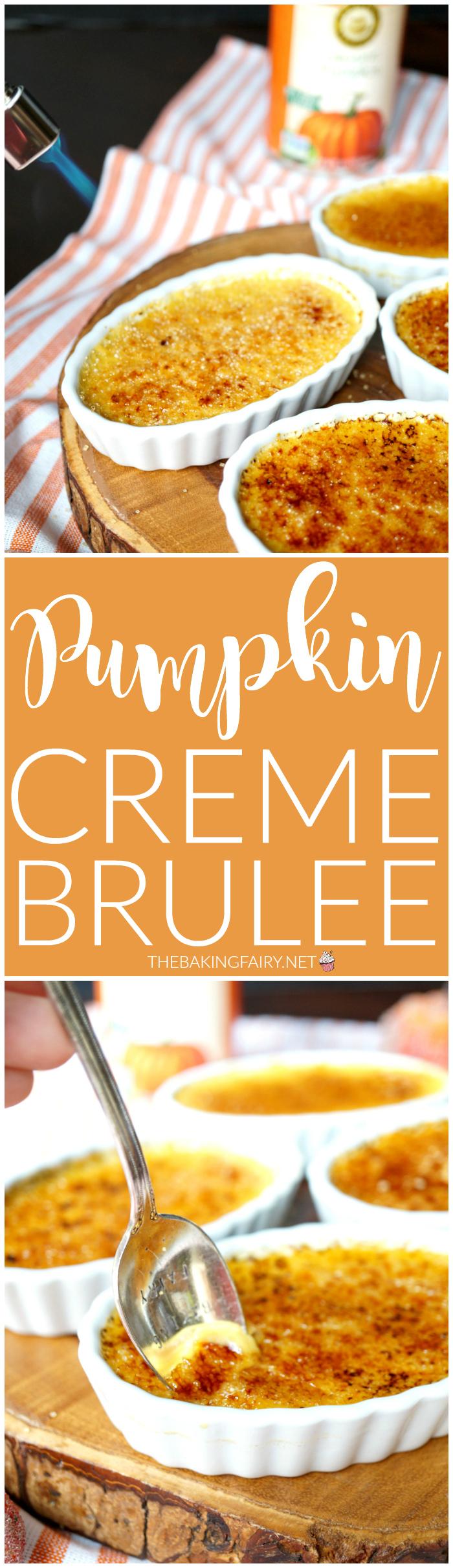 pumpkin creme brûlée   The Baking Fairy