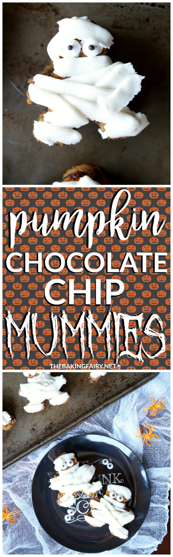 pumpkin chocolate chip mummies | The Baking Fairy