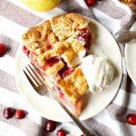 cranberry pear lattice pie | The Baking Fairy