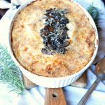potato mushroom gratin with mozzarella and parmesan | The Baking Fairy
