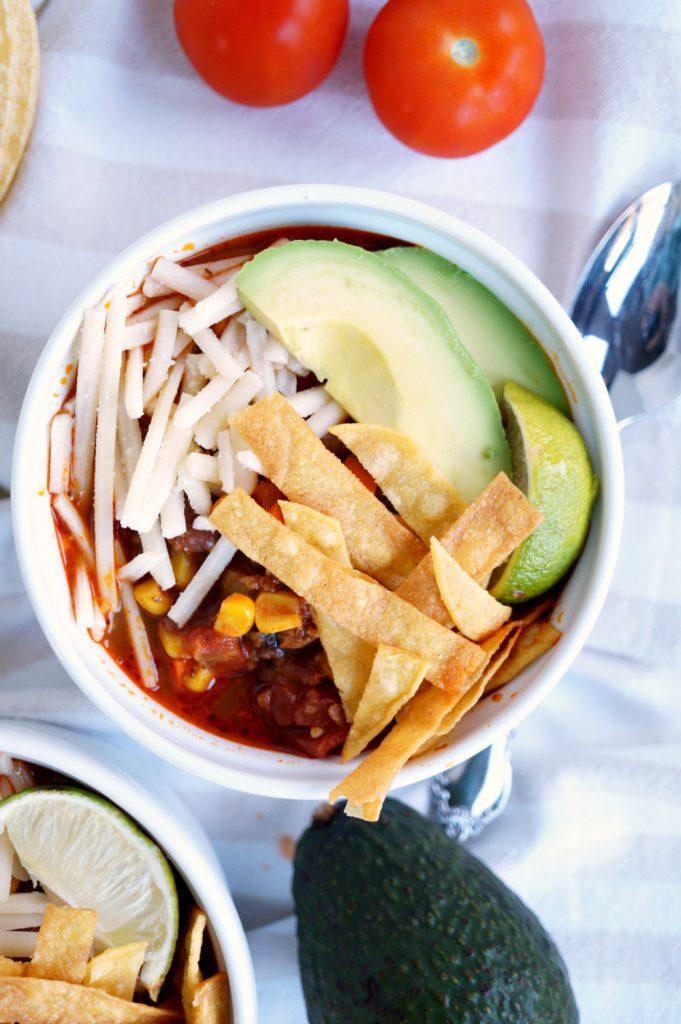 vegan chorizo taco chili