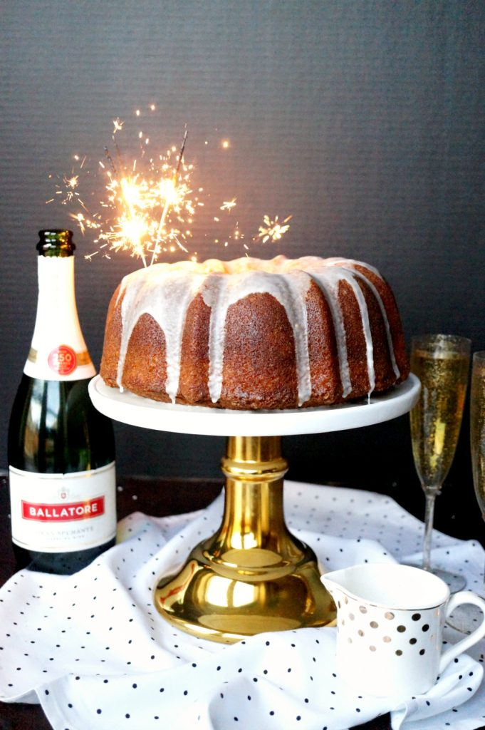 sparkling champagne bundt cake | The Baking Fairy