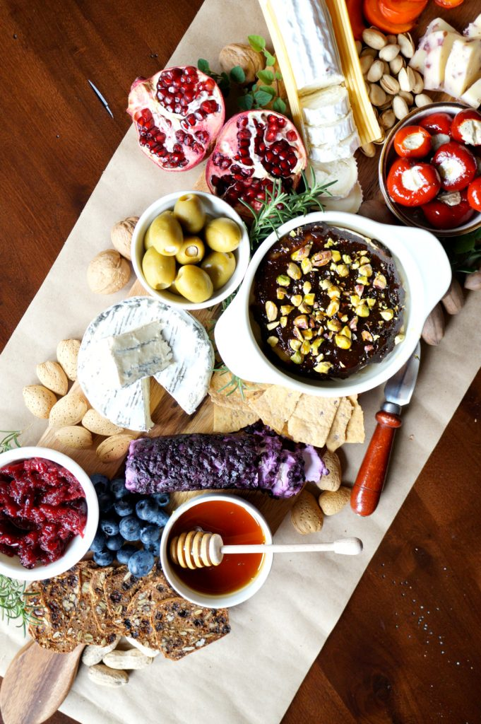 holiday fruit & nut cheese board