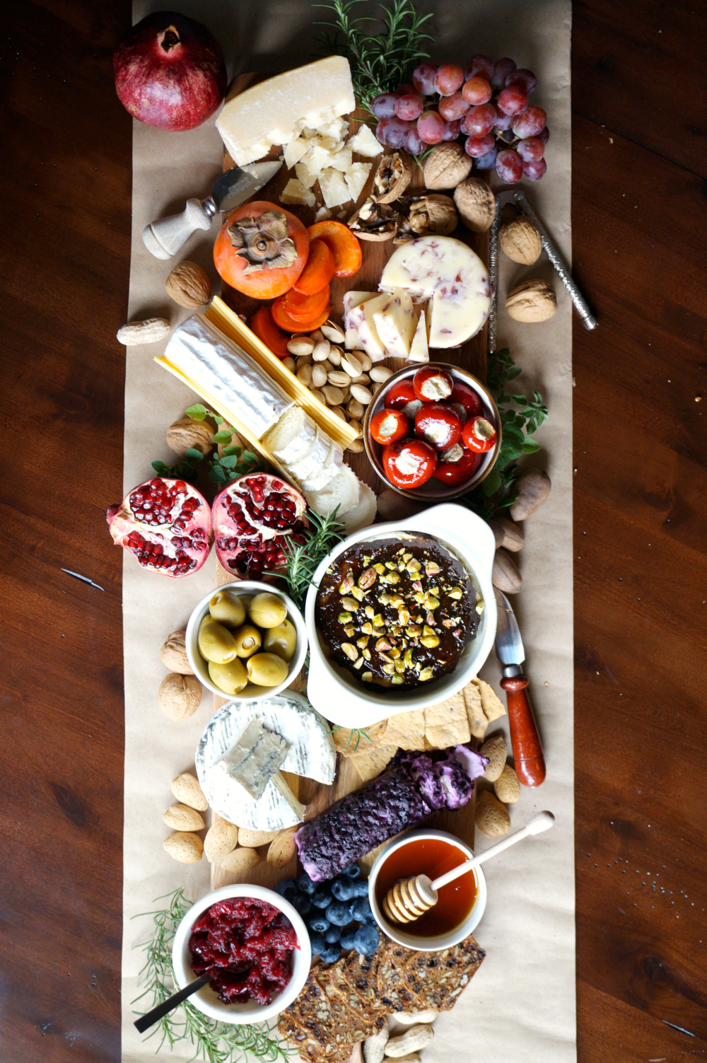 holiday fruit & nut cheese board   The Baking Fairy