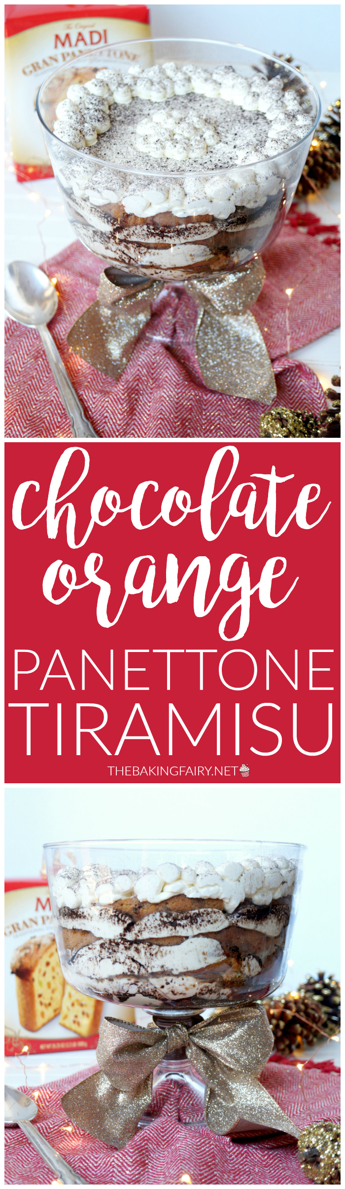 chocolate orange panettone tiramisu | The Baking Fairy