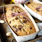 vegan chocolate chunk pistachio olive oil loaf cakes | The Baking Fairy