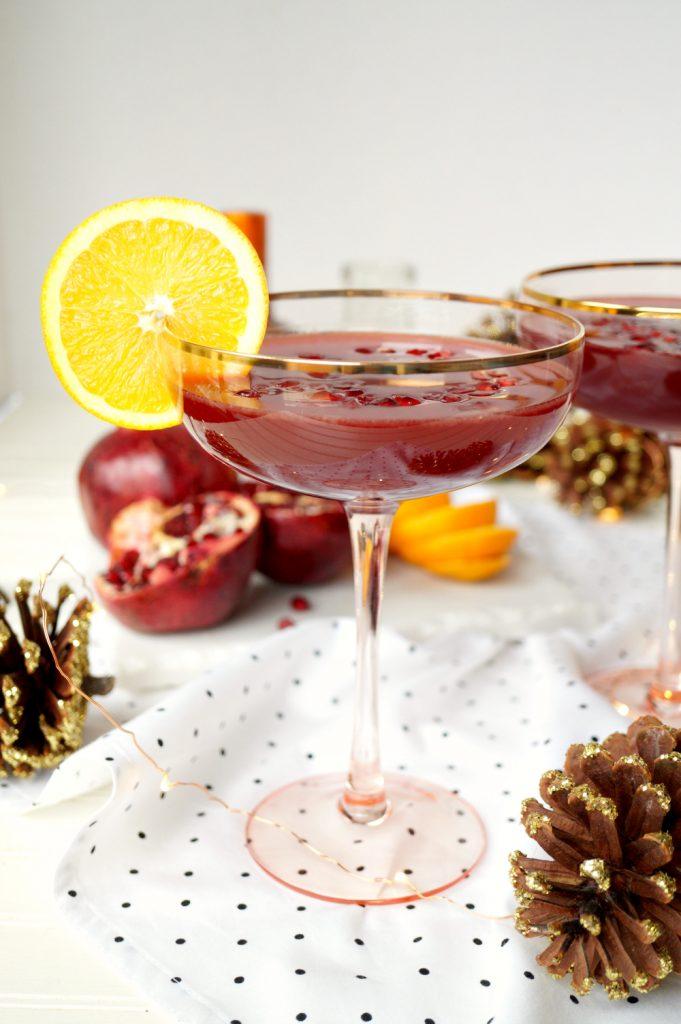 pomegranate orange margaritas | The Baking Fairy