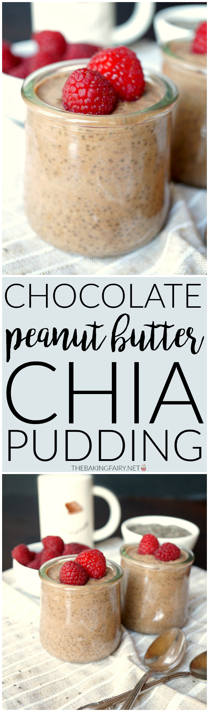 chocolate peanut butter chia pudding | The Baking Fairy
