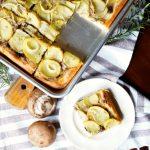 vegan potato mushroom pizza | The Baking Fairy