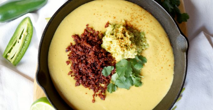 fully loaded vegan queso {nut-free}