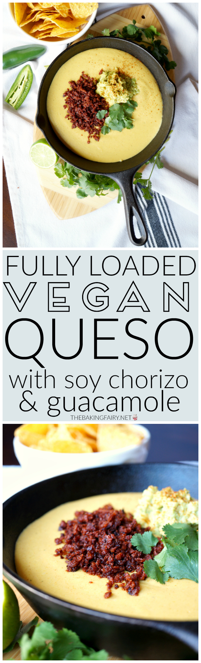 fully loaded vegan queso {nut-free} | The Baking Fairy