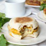 vegetarian bacon, sausage & egg patties | The Baking Fairy #VeggieNewYear #ad
