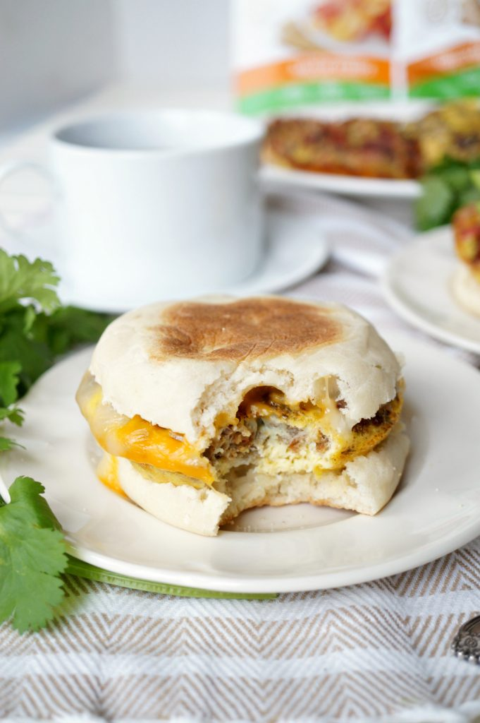 vegetarian bacon, sausage & egg patties | The Baking Fairy #VeggieNewYear #ad