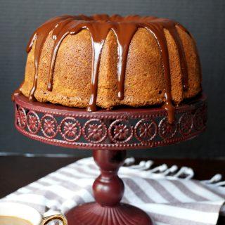 espresso bundt cake with dark chocolate ganache | The Baking Fairy