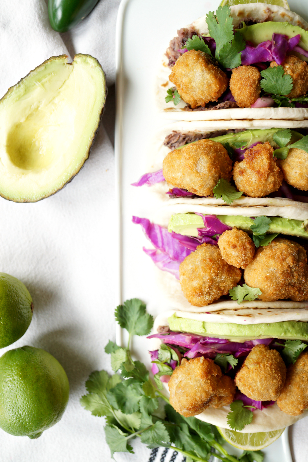 crispy mushroom street tacos with Farm Rich   The Baking Fairy