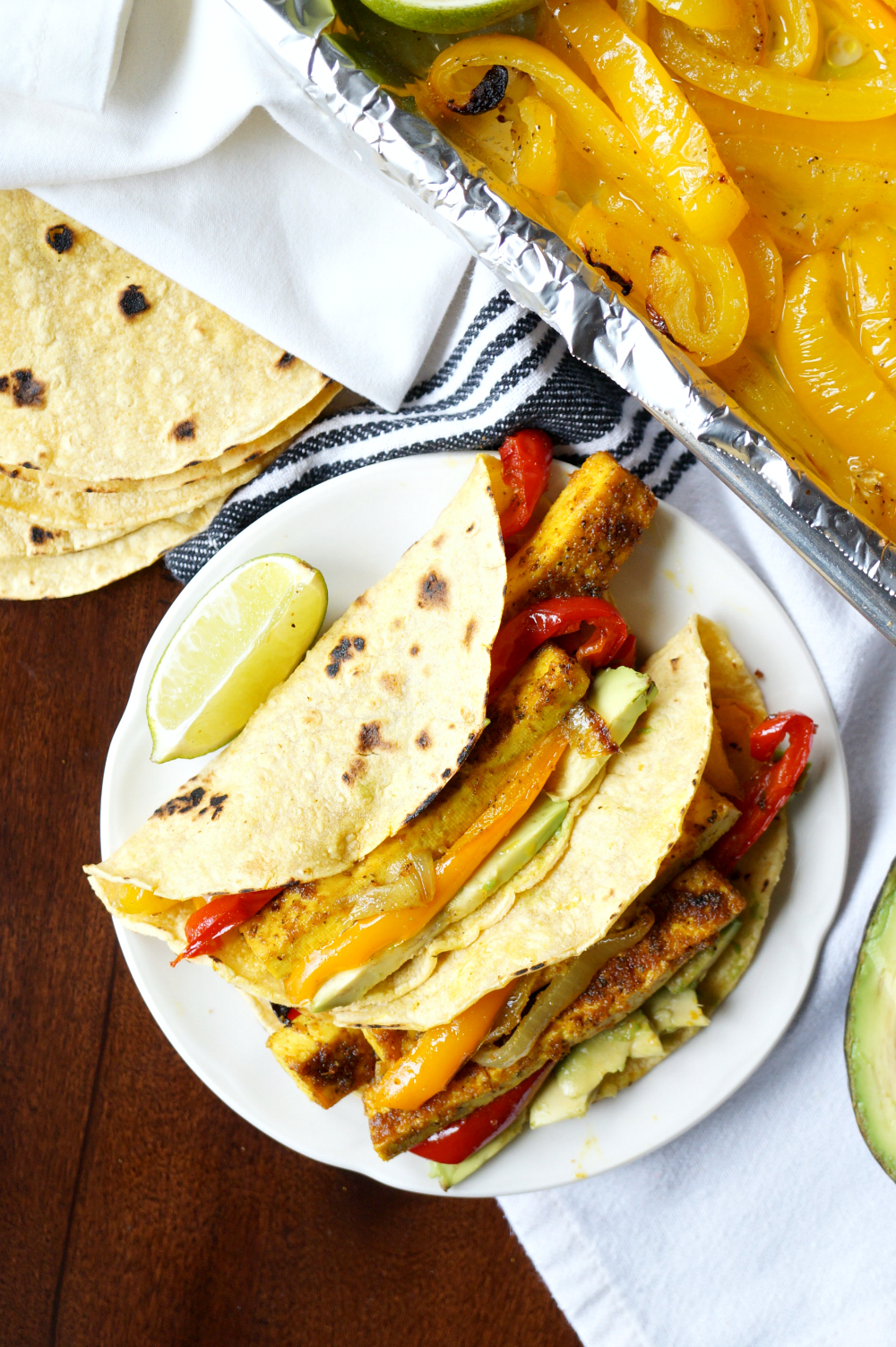 vegan sheetpan tofu fajitas | The Baking Fairy