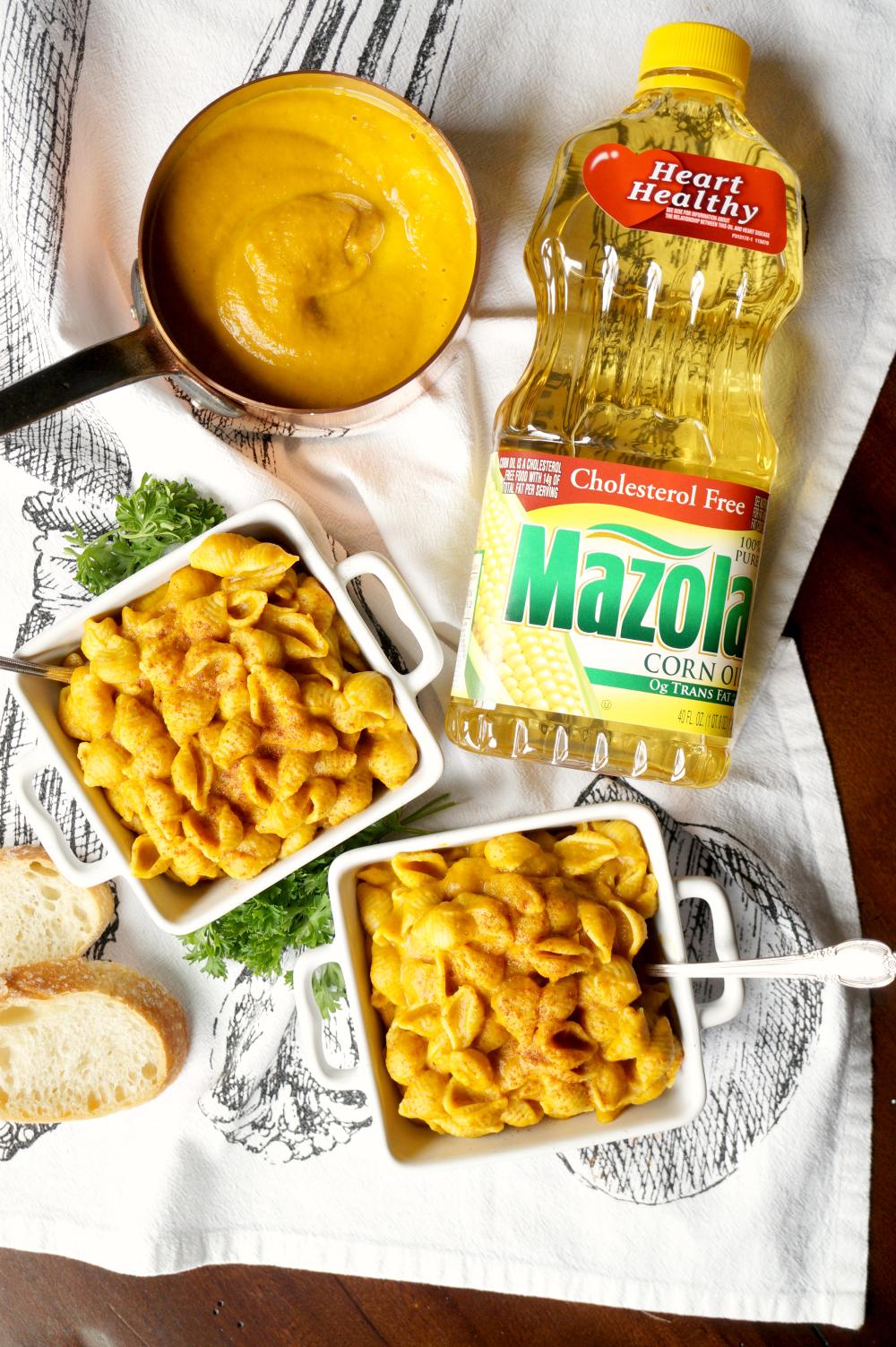 creamy vegan pumpkin macaroni | The Baking Fairy #SimpleSwap #ad