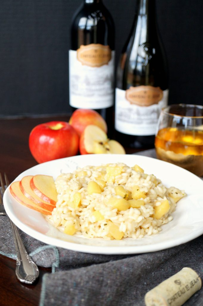 smokey apple gouda risotto