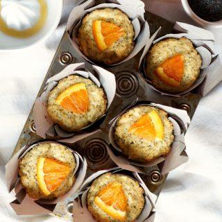 cara cara orange poppyseed muffins   The Baking Fairy