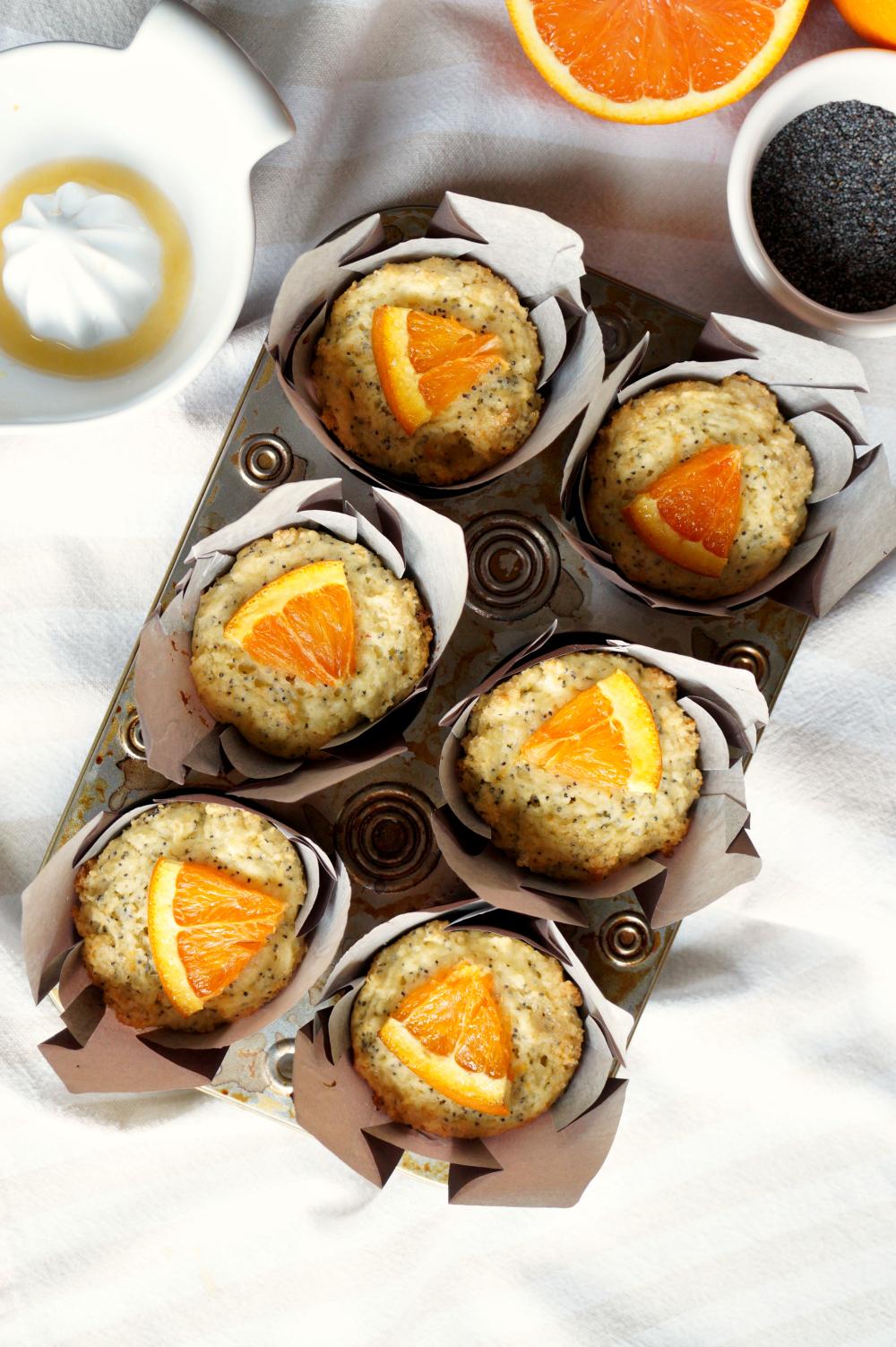 cara cara orange poppyseed muffins | The Baking Fairy