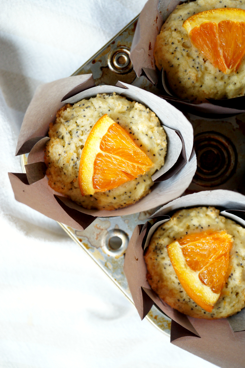 cara cara orange poppyseed muffins | The Baking Fairy