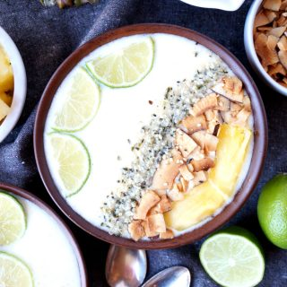 piña colada smoothie bowls | The Baking Fairy