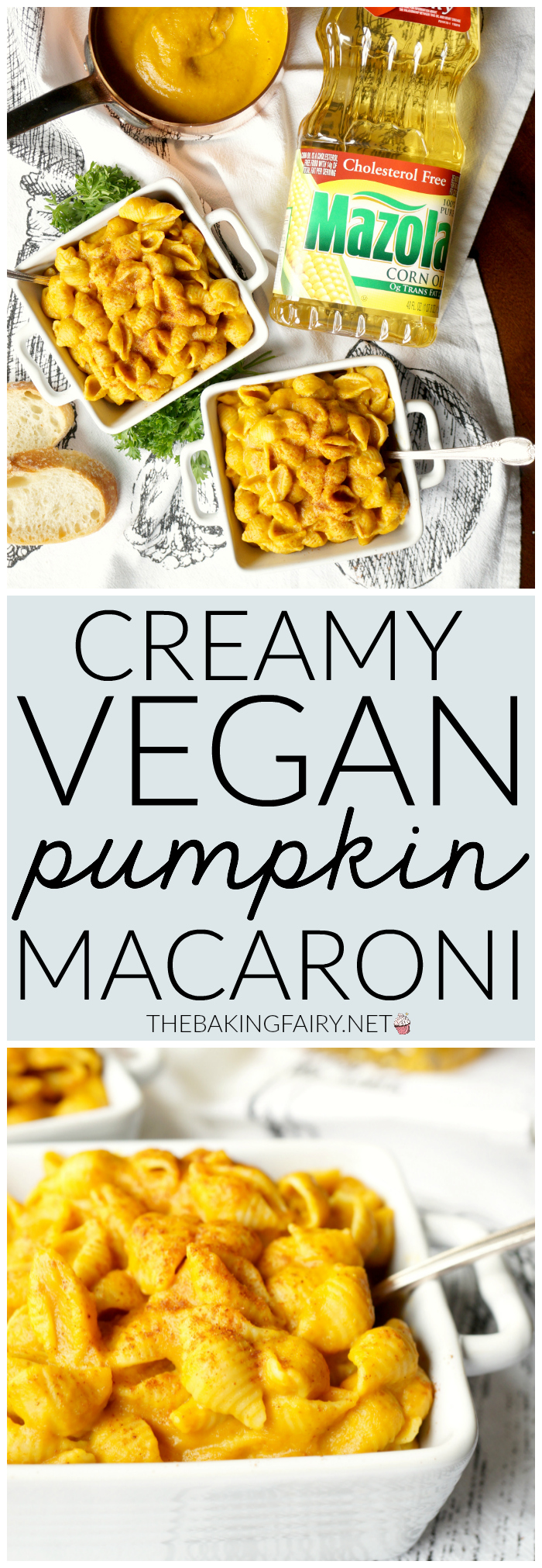 creamy vegan pumpkin macaroni | The Baking Fairy #SimpleSwap #ad
