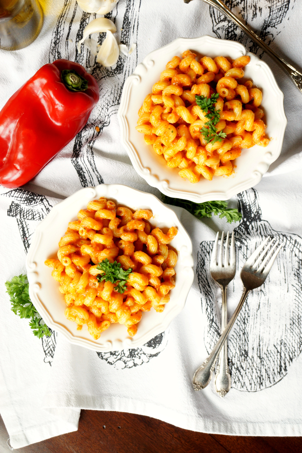 roasted red pepper pasta   The Baking Fairy