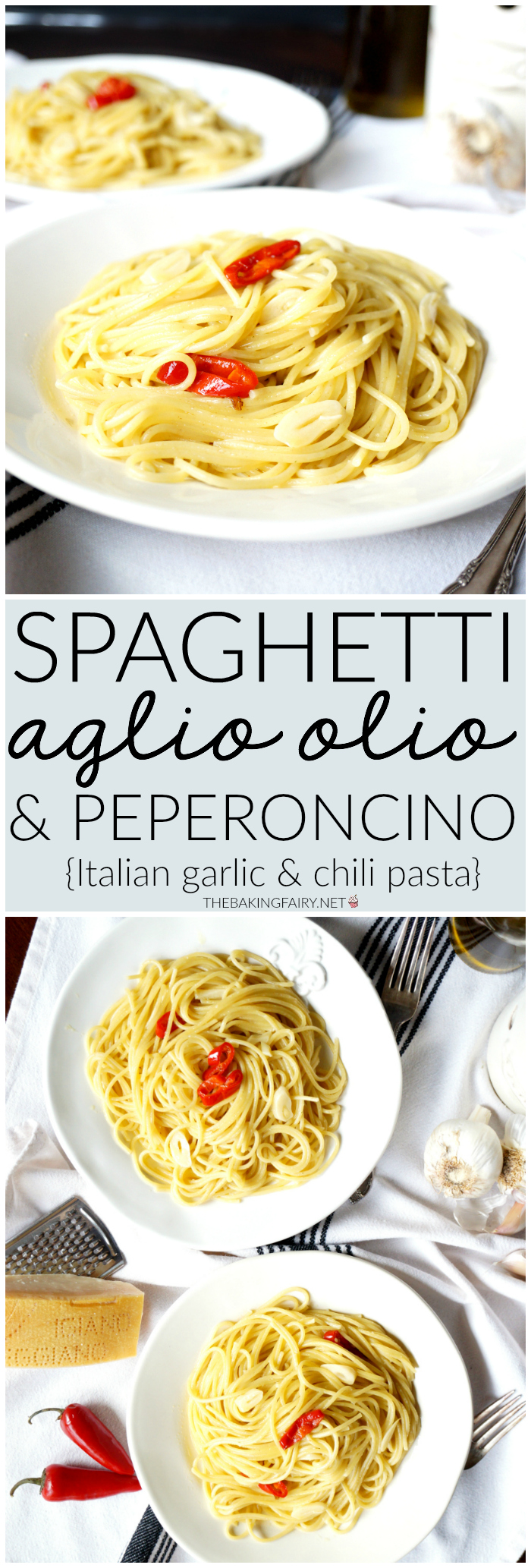 spaghetti aglio, olio & peperoncino | The Baking Fairy