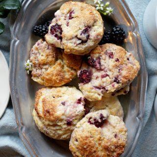 blackberry lime cream cheese scones | The Baking Fairy