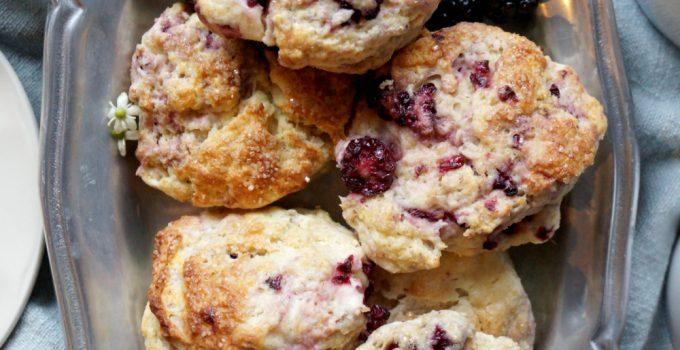 blackberry lime cream cheese scones